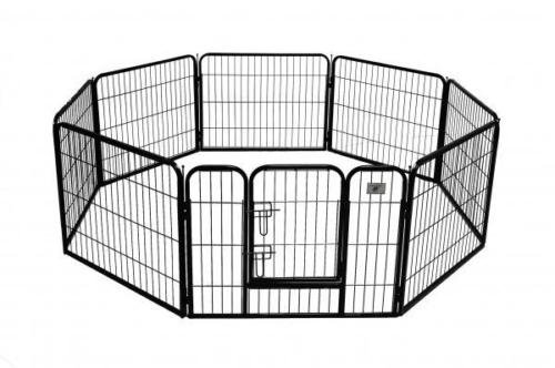 Eight24hours New Black 24'' 8 Panel Heavy Duty Pet Playpen Dog Exercise Pen Cat Fence + FREE E-Book
