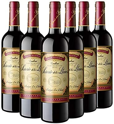 Señorío de los Llanos Gran Reserva Vino Tinto - 6 Botellas x 750 ml: Amazon.es: Alimentación y bebidas
