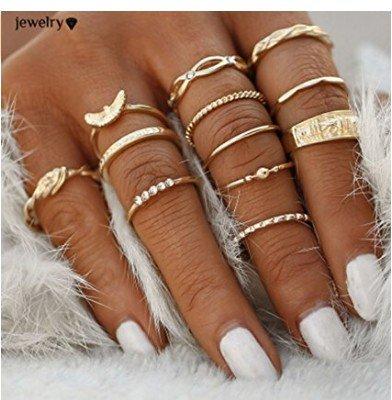 Christoopher Anello da 12 pezzi con anello da dito femminile