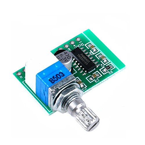 Super Mini PAM8403 DC 5V 2 Channel USB Digital Audio Amplifier Board Module 2 3W Volume Control with Potentiometer Switch by Atomic Market