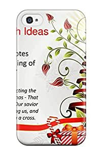 Hot Tpu Cover Case For Iphone/ 4/4s Case Cover Skin - Christmas Wishes Quotes
