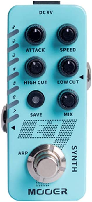 MOOER E7 - Pedal de sintetizador para guitarra polifónica: Amazon ...