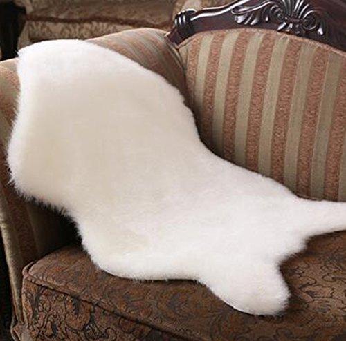 LIQIANYING Kunstfell Schaffell Teppich Bettvorleger Sitzunterlage Dekoration für Schlafzimmer,Wohnzimmer,Couch,Sofa