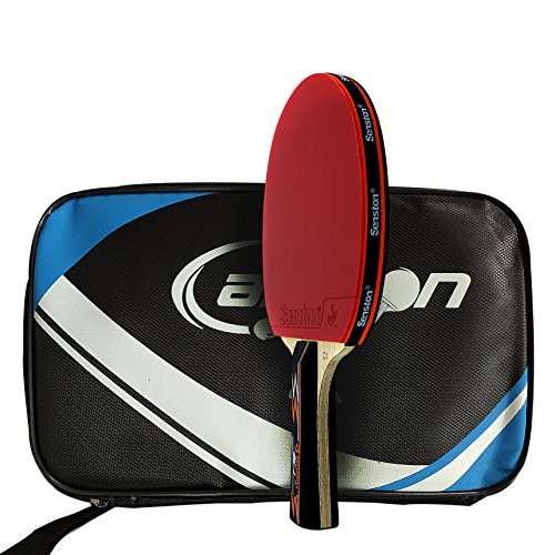 Senston ITTF Approved Table Tennis Bat, Professional Pingpong Racket Paddle with Case,Carbon Blade by Senston