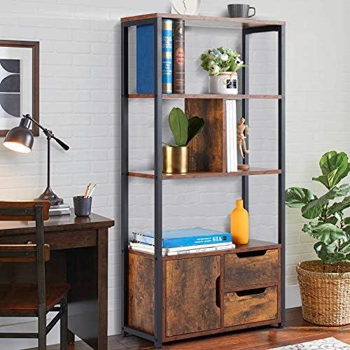 HOMHUM Industrial Bookcase