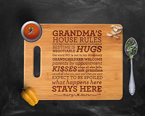 - Grandma Cutting Board, Inspirational Cutting Board,Grandma's Kitchen, Wooden Cutting Board, Engraved cutting board