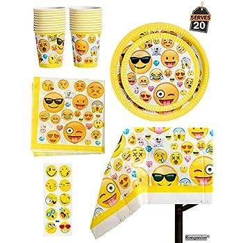 81 Piece Emoji Birthday Party Supplies