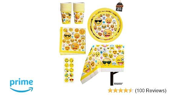 Amazon 81 Piece Emoji Birthday Party Supplies