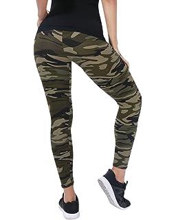 9603f4733bb Femme Pantalon Militaires Long Crayon Taille Haute Camouflage Elastique  Casual Leggings