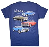 1962 to 1972 Chevrolet Nova - Chevy T-Shirt 100% Cotton - Blue by Hot Rod Apparel