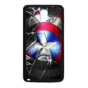 2015 Bestselling captain america cos wallpaper icon Phone Case for Sumsung Note 3 black