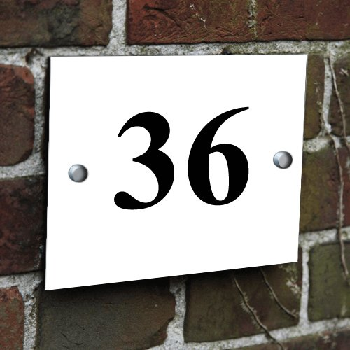 Personalised Use your Image White Aluminium Printed House Sign Door Number Name Road Plaque Memories and Gifts