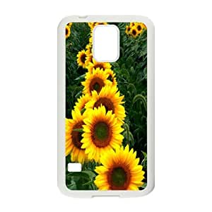 High Quality Phone Back Case Pattern Design 14Sunflower And Sun- For Samsung Galaxy S5