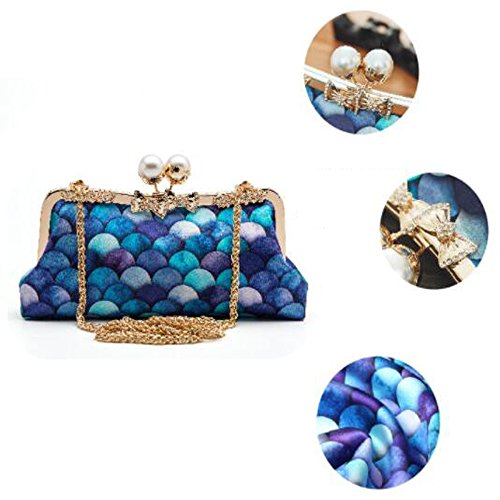 Fashion Bag Clutch Cheongsam Ladies Diagonal Mermaid Fashion Bag Bag Evening A Party Bag Party Wild ZF0vqFUx