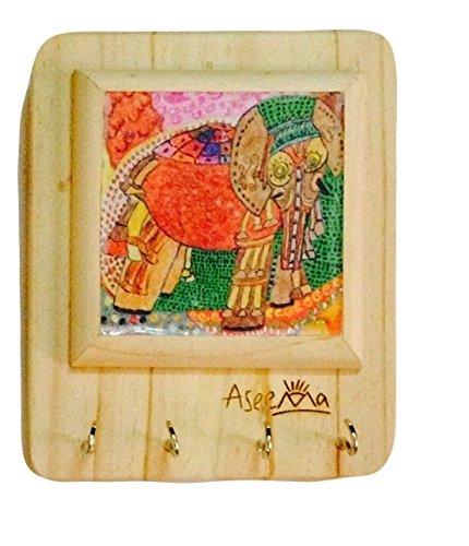 Aseema Key Holders Elephant Pink  4 Hooks  Key Holders