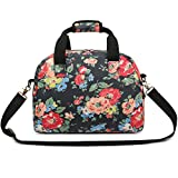 Cheap Oflamn 16L Small Floral Gym Duffle Bag Waterproof Canvas Travel Cute Sports Carry On for Women