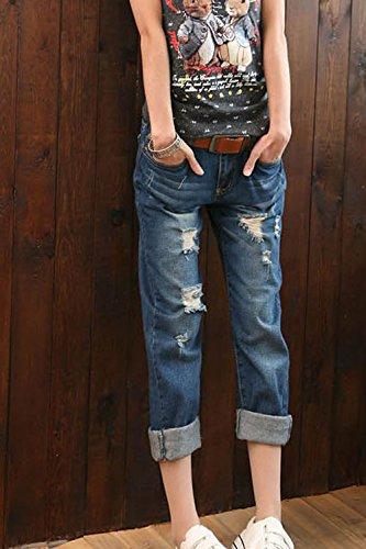 De Cheville Ami Et Des Des Navy Un Jeans Jeans Taille La xfn0g0Z6q