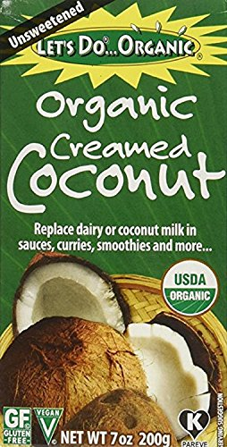 Let's Do Organic Creamed Coconut, 7-Ounce Boxes (Pack of 12)