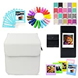 Uniuni Accessory Bundles Set - White Case/Films Storage Bag/Frames/Ablum/Stickers/Lace Photo Border/Wooden Clips for Fujifilm Instax Share SP-3 Smartphone Printer