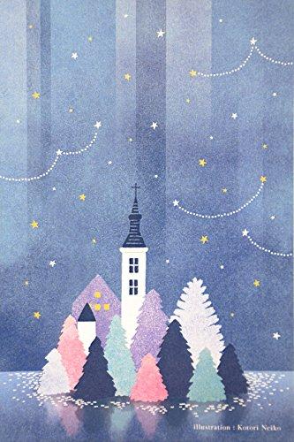 [해외]이 더 본점 엽서 「 고요한 밤 」 by ことり 寧子 A016_10 10 매 / Honpo postcard \\
