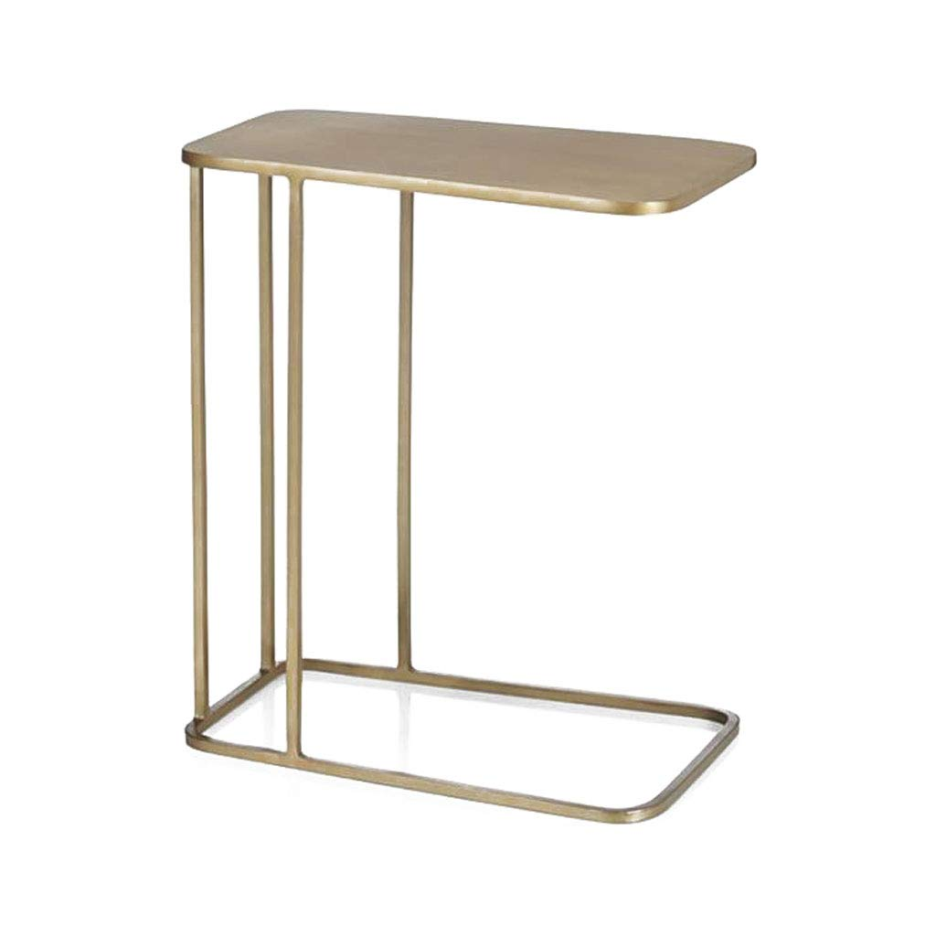 LYN Sofa Side End Table, Modern Minimalist Sofa Side Bed Table Wrought Iron Side Table Side Cabinet European Small Square Table Coffee Table