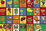 Kids Children Alphabet Food 3 X 5 Educational Gel Rug (3'3''X 4'9'')