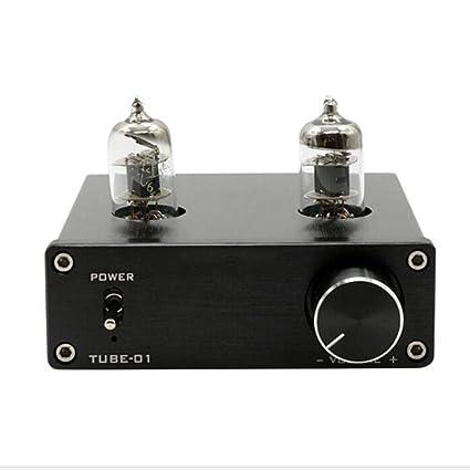 YUEC Preamplificador de Tubo P1 Mini Hi-Fi Preamplificador estéreo 6J1 Preamplificador con válvula y