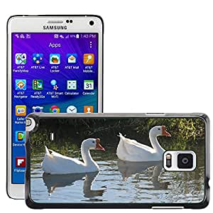 GoGoMobile Slim Protector Hard Shell Cover Case // M00119251 Geese Goose Pond White Waterfowl // Samsung Galaxy Note 4 IV