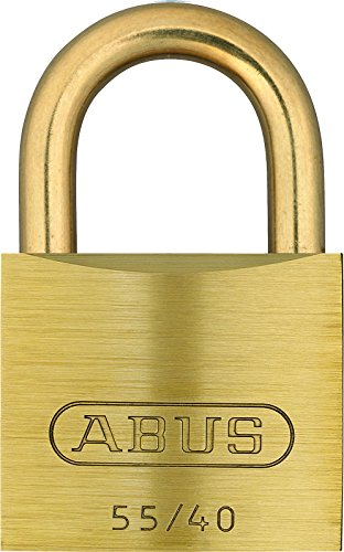 (ABUS 55MB/40 B KA 1.5-Inch All Weather Solid Brass Keyed Alike Padlock with Brass Shackle)
