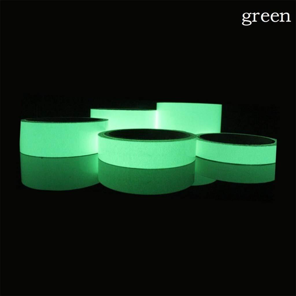 Luminous Tape Sticker, Tuscom Removable Waterproof Glow in The Dark Tape Reflective Self-Adhesive Sticker Luminous Safety Tape, 1M Length (Green)
