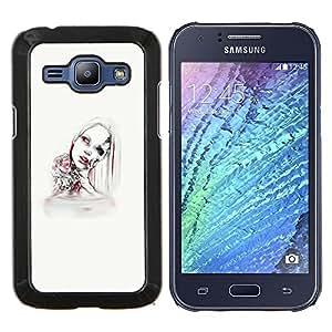 Jordan Colourful Shop - Android Woman For Samsung Galaxy J1 J100 J100H Personalizado negro cubierta de la caja de pl????stico