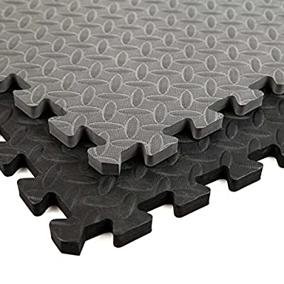 Incstores Diamond Soft Extra Thick Anti Fatigue Interlocking Foam Tiles - 2ft x 2ft Tiles Ideal for Laundry Room Flooring, Kitchen Mats, Exercise Mats, Garage Mats and More...