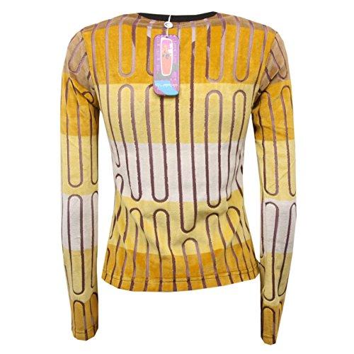 T Maglia C8602 Four Custo beige Giallo Woman Donna shirt Barcelona Delhi Senape gASqqOwY