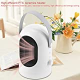 Portable Space Heater, Portable Cold and Warm Fan Air Condtioning Machine Heater & Cooler US Plug AC85-265V, Overheat Protection and Carrying Handle Fit for Home or Office