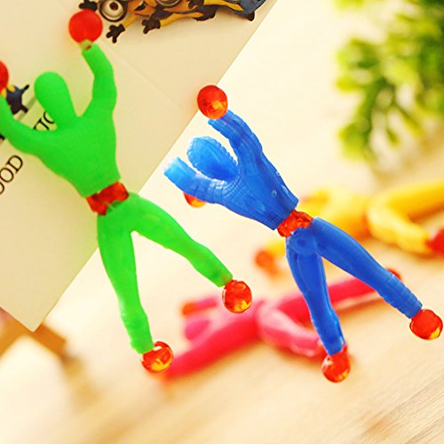 4Pcs Sticky Wall Climbers Climbing Man Rolling Men  Tricky Toys for G8A8