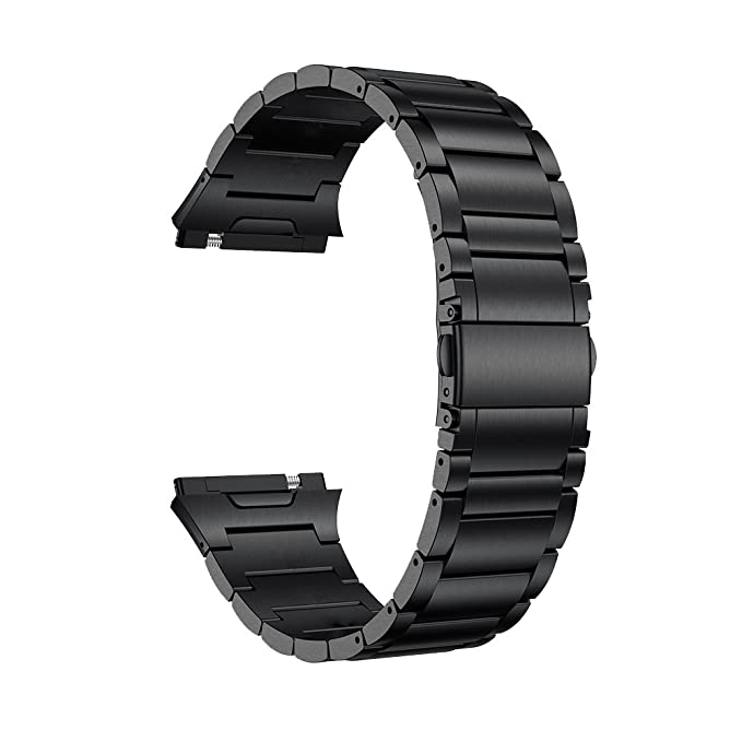 LDFAS Titanium Band Compatible for Fitbit Ionic Band, Titanium Metal Accessory Watch Strap Compatible for Fitbit Ionic Smartwatch, Black