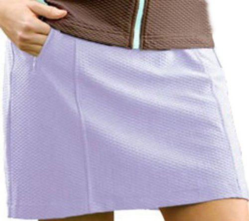 Monterey Club Ladies Dry Swing Honeycomb Texture Pull-on Knit Skort #2842 (Light Lavender, Medium) ()