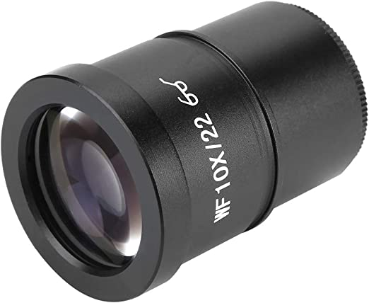 WF006G-a WF10X 22mm Microscope Eyepiece,Wide-Angle Stereo Microscope Lens Ocular Lens 30mm Enlarged The Field of View Protect Eyesight Easy to Attach on Objective by Screwing It On