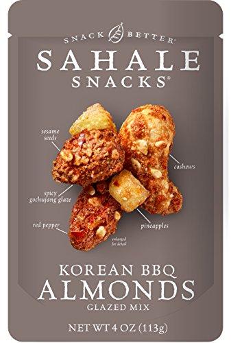 Sahale Snacks Korean BBQ Almonds Glazed Mix, Gluten-Free Snack, 4-Ounce, Pack of 6