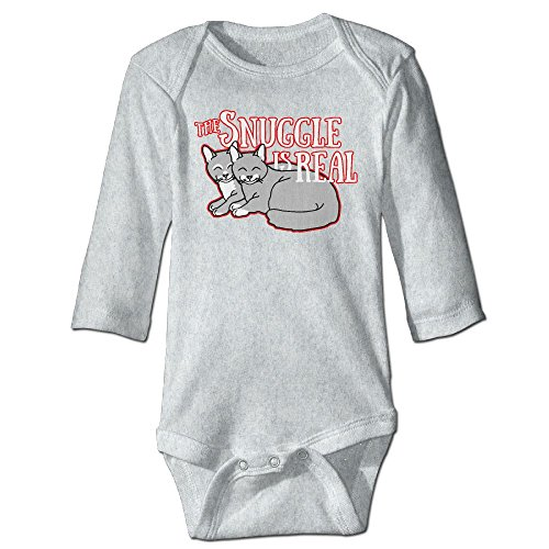 BRIGHT JUNAY The Snuggle Is Real Unisex Baby Fit Bodysuit Long Sleeves Romper Outfit Clothes (Long Sleeve Footlocker)