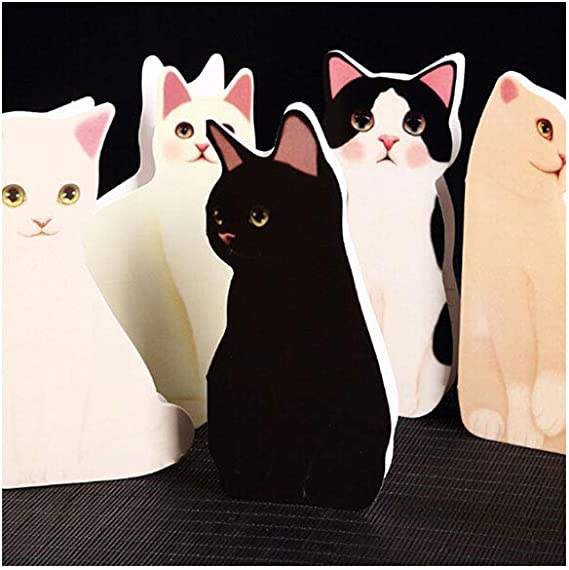 1pc Blank Note Card Animal Cat Greeting Card with Envelope Color Randomly