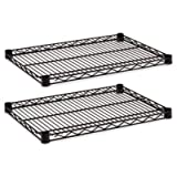 Alera ALESW582418BL  Industrial Extra Wire Shelves, 24w x 18d, Black (Case of 2)