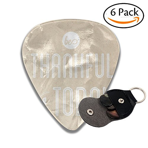 Colby Keats Guitar Picks Plectrums Thankful For Today Classic Electric Celluloid Acoustic For Bass Mandolin Ukulele 6 Pack 3 Sizes .71mm -