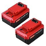 Replace for Porter Cable 20V Battery 5.0Ah MAX Lithium ion PCC685L PCC680L PCC682L PCC685LP Cordless Tools Batteries -2Packs
