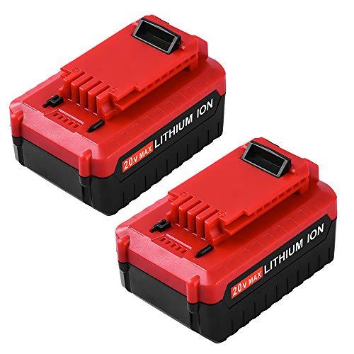 Replace for Porter Cable 20V Battery Lithium ion 5.0Ah MAXPCC685L PCC680L PCC682L PCC685LP Cordless Tools Batteries -2Packs