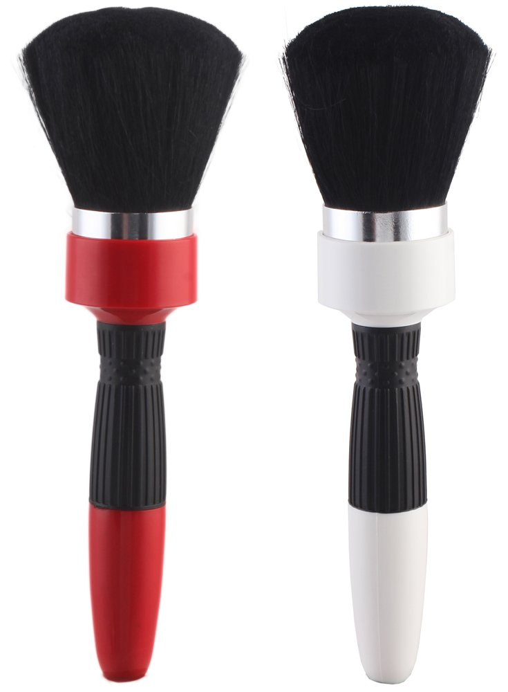 2pcs Super Soft Neck Duster Brush for Salon Stylist Barber Hair Cutting Make up Cosmetic Body Perfe Hair NB001-2