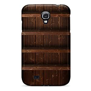 Tpu Case For Galaxy S4 With Realistic Wood Shelf
