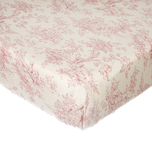 Glenna Jean Isabella Toile Fitted Sheet, Pink/Cream