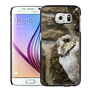 New Custom Designed Cover Case For Samsung Galaxy S6 With Owl Animal Mobile Wallpaper Phone Case