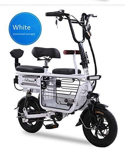 ZZKK Bicicleta eléctrica Mini Plegable Dos Baterías de Litio ...